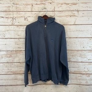 Tommy Bahama Quarter Zip Collared Sweater